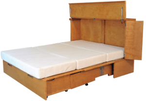 open denva cabinet bed