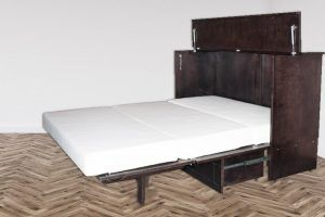 Aztec styled cabinet bed with mattress